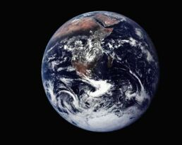 View of whole Earth in space