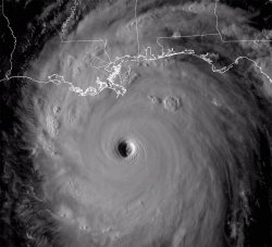 Katrina satellite photo